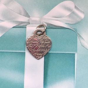 Tiffany & Co Medium Fifth Ave Heart charm/pendant